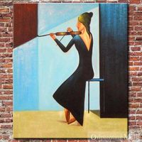 The Soloist Hand Painted Oil Painting On Canvas