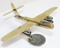 Trench Art Soviet Bomber - Scout RB-17 Model Made From WW2 Shells Cartridges Toy $42.00