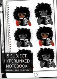 Digital 5 Subject Spiral Notebook | 2 Hyperlinked Index + 50 Pages Per Section - Instant Download $14.00