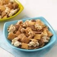 Snickerdoodle Chex Mix - Recipe right off the back of the Cinnamon Chex Box! Liz's Spin: I use half the amount of butter, roasted saigon cinnamon, and drizzle white chocolate
