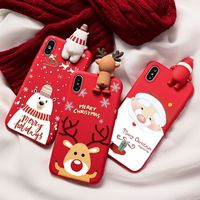 Christmas Cartoon Silicone Matte iPhone Cover $17.95