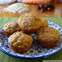 Healthy No Sugar Carrot Cake Muffins