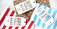 Modern Trees Holiday Gift Tags-Create your own