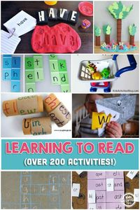 We have a huge list of learning to read activities that are so much fun. If you need to learn something, why not learn through play?