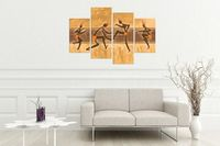 Vintage Africa Tribal Wall Art Painting, Canvas Wall Art Multi Panel Canvas Canvas Wall Decor Canvas Art Print Canvas Digital Print $92.00
