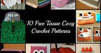 crochet, free patterns, tissue box cover, cozy