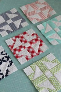 Block #9 from the Patchwork Quilt Along hosted by the Fat Quarter Shop. A new, free quilt block pattern released every month.