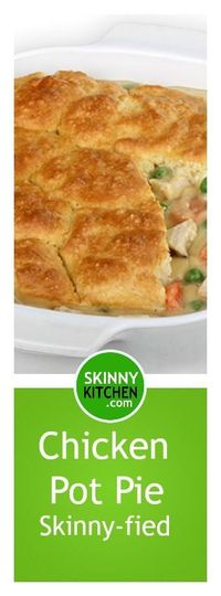 Chicken pot pie is considered one of the ultimate comfort foods! It's a savory pie filled with a luxurious chicken stew. And, it's usually very fattening, but n