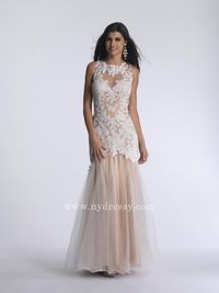 Ivory lace evening dress by Dave and Johnny 732