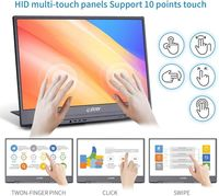 G-STORY GSV56FT 15.6 Inch Touchable FHD 1080P IPS Type C Portable Computer Monitor Gaming Display Screen for Smartphone Tablet Laptop Game Consoles
