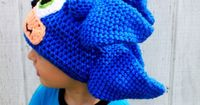 Crochet hat Sonic hat,and Shadow hat. $35.00, via Etsy.