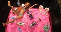 21st birthday cakes for girls | Drunk Barbie 21st Birthday Cake