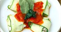 41 Sneaky Ways To Eat More Vegetables (With Recipes!) Spinach and Ricotta Zucchini Ravioli