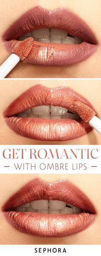 For a lip look that's on trend and super hip, try this ombre lip look from Sephora. From liners to gloss, get everything you need to achieve the perfect romantic ombre lip.