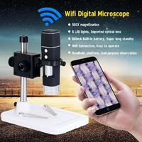 500X 8 LED Wireless Camera 2MP Wifi Digital Microscope Magnifier with Base Stand Holder