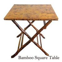 Bamboo Square Table - Folding Chairs Tables Larry Hoffman