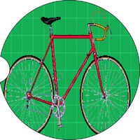 2 Absorbent Car Coasters of Bicycle Bike. Car Accessories for her, Auto Coaster, Coaster, Cup Holder Coaster, Gift For Her, For Him $14.00
