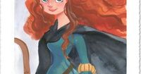 Disney Fine Art - Merida. Pixar's Brave. Biggs Ltd. Gallery. Heirloom quality bridal, art, baby gifts and home decor. 1-800-362-0677. $350.