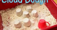 Ever hear of Cloud Dough? It's a wonderful sensory activity for preschool children. It feels like flour as you run your fingers through it, but the cool thing about it is that it is moldable too. Pinned by The Sensory Spectrum, wp.me/280vn.