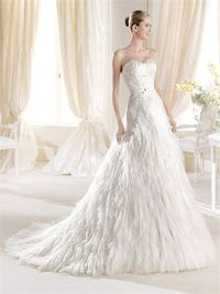 Romantic mermaid sweetheart court train wedding dresses