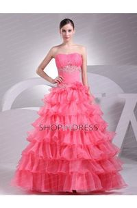 Satin Lace up Floor Length Pink Prom Dresses
