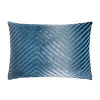 Denim Chevron Velvet Pillows by Kevin O'Brien Studio $122.00