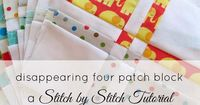 Stitch by Stitch: WIP Wednesday - Charm pack baby quilt and a tutorial. Good description of which way to press seams for perfect alignment.