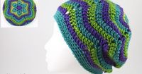 Free Flower Ripples Slouch Hat Pattern