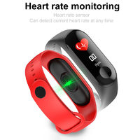 KALOAD M3C 0.96in Color Screen IP68 Waterproof Smart Watch Pedometer Heart Rate Blood Pressure Monitor Sports Bracelet Fitness Tracker