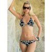animal Print Bikini With removable pads. Sequin and gold ring detail. Front lined. Washable. 80% Nylon, 20% Elastane. http://www.comparestoreprices.co.uk//animal-print-bikini.asp