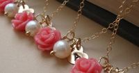 Personalized Rose Bridesmaids Necklaces   Beauty and the Beast Themed Wedding   Estate Weddings and Events