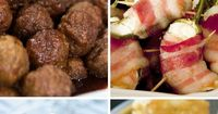 Whip up easy New Year's appetizers like cheese-stuffed potato puffs and 3-ingredient bacon-wrapped jalapeno poppers