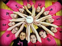 Volleyball team photo idea! Love this alot. Also would be cute with a softball