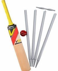 The Baking Girls Cricket Bat Ball Stumps 12 Standup Edible Premium Wafer Paper Cake Toppers Decoration 12 X 55Mm No description (Barcode EAN = 5055888700837). http://www.comparestoreprices.co.uk/cricket-equipment/the-baking-girls-cricket-bat-ball-...