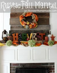 The Mantel in our Living Room is one of my favorite areas to decorate. Next to the kitchen, it was the spot that drew me into falling in love with the house. Th