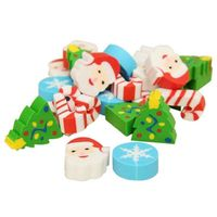 Xmas Mini Erasers In Small Plastic Christmas Tree Bottle. £7.29