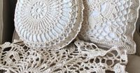 Shabby Chic Round Crochet Pillow and Matching by creativecarmelina, $89.00
