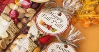 Fall Trail Mix and Printable Idea could be used for any occasion, Nice thank you gift, party favor, etc.