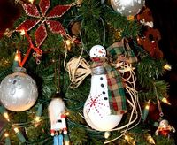 Lightbulb snowman ornament. #Christmas