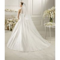 One-tier Tulle Cathedral Wedding Veils