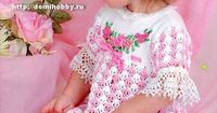 Isn't this just the sweetest dress? domihobby.ru It's Russian with charts.