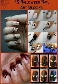 15 Seriously Awesome #Halloween Nail Art Designs via www.GrandmaJuice.net #NailArt