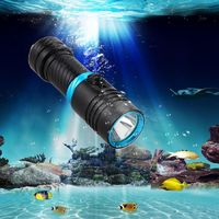 ESAMACT Dive 100 Meter Waterproof Underwater LED Flashlight, Diving Camping Lanterna Torch Lamp with Stepless Dimming