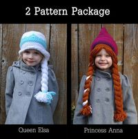 Hey, I found this really awesome Etsy listing at https://www.etsy.com/listing/186208272/elsa-anna-frozen-crocheted-hat-pattern-2