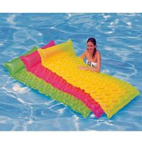 Outdoor Sport PVC 183 x 69cm Wave-like Floating Row Pool Raft Mat Air Mattresses Inflatable Water Swimming Bed Summer Toys $44.99