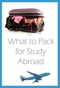 study abroad, studying and packing lists.