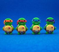 adorable Teenage Mutant Ninja Turtle clay robot sculptures!