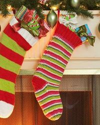 This bright and fun crochet stocking looks even better filled with Christmas goodies! Free Pattern from Lily Sugar 'n Cream