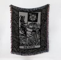 The Death Card Woven Throw Blanket Blanket $90.00