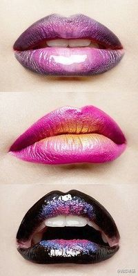 lip colors, lip makeup and lips.